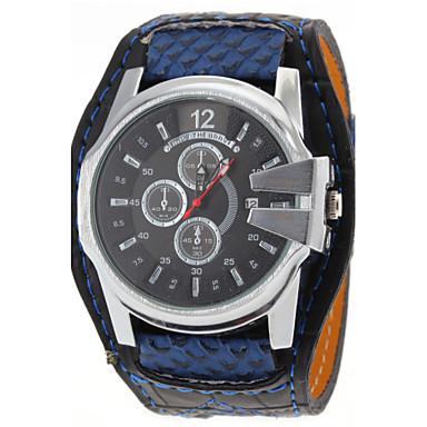 JUBAOLI Masculino Relógio de Pulso Quartzo Calendário PU Banda Branco Azul Vermelho Laranja Branco Laranja Vermelho Azul