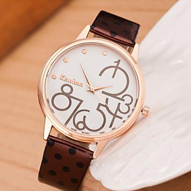 Dames Dress horloge Modieus horloge Gesimuleerd Diamant Horloge imitatie Diamond Kwarts Leer Band Zwart Wit Blauw Rood Bruin Roze