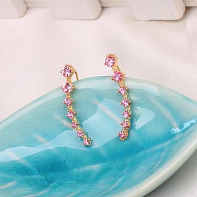 Punhos da orelha Zircão Liga Prata Dourado Jóias Para Casamento Festa Diário Casual 1 Conjunto