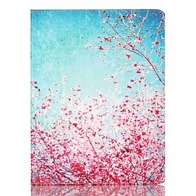 Capinha Para Apple Porta-Cartão / Com Suporte Capa Proteção Completa Flor PU Leather para iPad 4/3/2