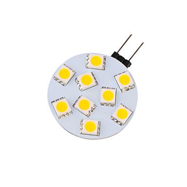 G4 Luminária de LED com Trilho G45 9 SMD 5050 380 lm Branco Quente Decorativa 30/9 V 4 pçs 3000