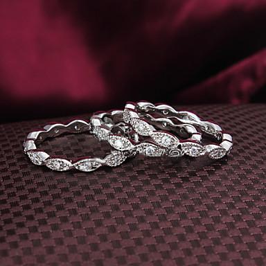 Dames Sieraden Set Bandring Zilver Zirkonia Verzilverd 18K Goud Bruiloft Feest Dagelijks Causaal Kostuum juwelen