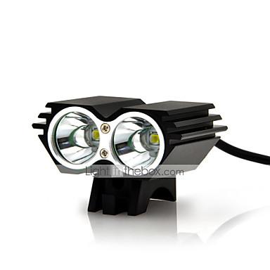 رخيصةأون اضواء الدراجة-LED اضواء الدراجة ضوء الدراجة الأمامي مصابيح الدراجة LED ركوب الدراجة ضد الماء Impact Resistant  قابلة لإعادة الشحن 18650 AAA 5000 lm البطارية Everyday Use أخضر القيادة / IPX-4