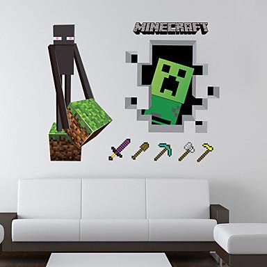 Cartoon 3D Muurstickers Vliegtuig Muurstickers Decoratieve Muurstickers Materiaal Verwijderbaar Huisdecoratie Muursticker