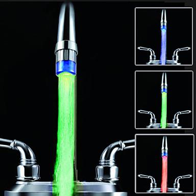 controle de temperatura de cor rgb adaptador universal da cozinha levou torneira da pia nozzl (mudança de temperatura da água)