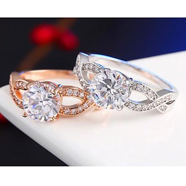 Anéis Casamento / Pesta / Diário Jóias Liga Feminino Anéis de Casal 1pç,6 / 7 / 8 / 9 Dourado / Prateado