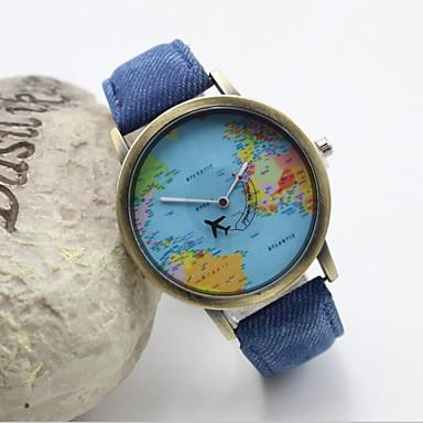 Dames Modieus horloge Kwarts Hot Sale Leer Band Amulet Zwart Wit Blauw Rood Groen Geel