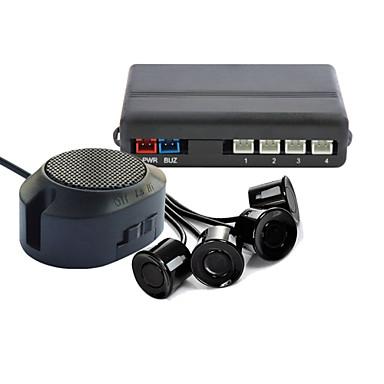 رخيصةأون المنبهات  و الامان-dearroad عكس مواقف السيارات مع مفتاح النسخ الاحتياطي الرادار صوت التنبيه + 4 أجهزة استشعار