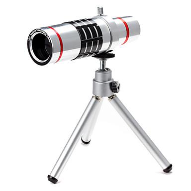 nieuwe 18 × telefoon lens voor smartphone met clip& universele houder& mini-statief& lens sets