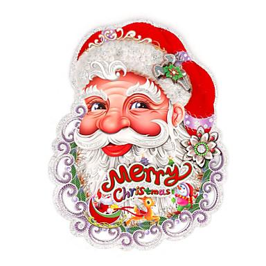 egy pár boldog karácsonyt pelyhesítő mikulás fej 3d falimatrica fali matrica tervezés véletlenszerű