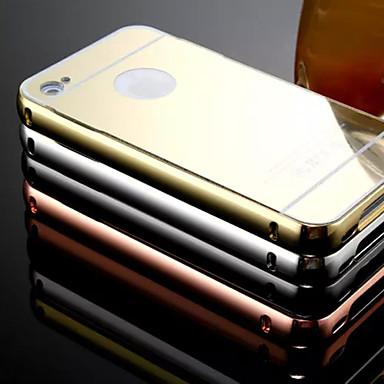 nieuwe beplating spiegel terug met metalen frame telefoon Case voor iPhone 4 / 4s (verschillende kleuren)