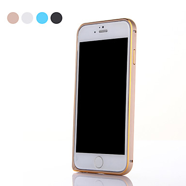 hoesje Voor iPhone 6s Plus iPhone 6 Plus iPhone 6s iPhone 6 iPhone 6 Plus iPhone 6 Ultradun Bumper Effen Kleur Hard Metaal voor iPhone 6s