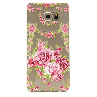 Para Samsung Galaxy Capinhas Case Tampa Transparente Estampada Capa Traseira Capinha Flor PUT para Samsung S6 edge plus S6 S5