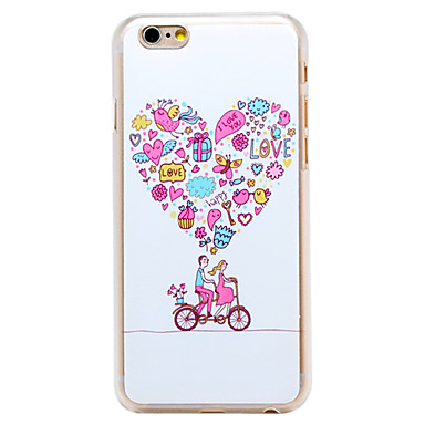 amam a fantasia padrão de bicicleta pc transparente Capa para iPhone 6 mais