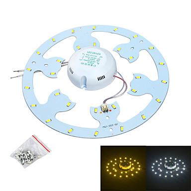 jiawen 24w 2300lm 6500k / 3200k 48-smd5730 branco / fonte de luz branca quente para lâmpada de teto / unha magnética (ac170 ~ 265v)
