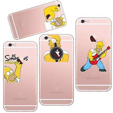 voordelige iPhone 7 hoesjes-hoesje Voor Apple iPhone X / iPhone 8 Plus / iPhone 8 Ultradun / Transparant / Patroon Achterkant Spelen met Apple-logo Zacht TPU
