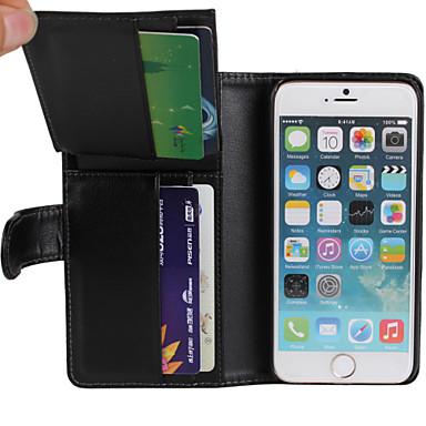 Voor iPhone 6 hoesje / iPhone 6 Plus hoesje Portemonnee / met standaard hoesje Volledige behuizing hoesje Effen kleur Hard PU-leeriPhone