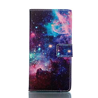 Para Samsung Galaxy Capinhas Carteira / Porta-Cartão / Com Suporte / Flip Capinha Corpo Inteiro Capinha Cenário Couro PU SamsungS5 Mini /