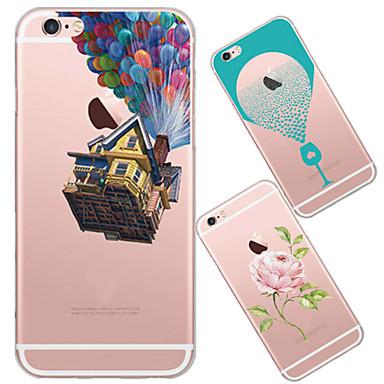 Voor iPhone 5 hoesje Ultradun / Doorzichtig / Patroon hoesje Achterkantje hoesje Cartoon Zacht TPU iPhone SE/5s/5