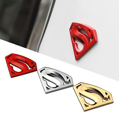 8x5.4cm μεγάλο μεταλλικό 3d 3m χρωμίου αυτοκινήτων λογότυπο σήμα μέταλλο superman αυτοκόλλητο decal αυτοκίνητο