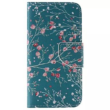 Кейс для Назначение SSamsung Galaxy Кейс для  Samsung Galaxy Бумажник для карт Кошелек со стендом Флип Чехол дерево Кожа PU для S6 edge