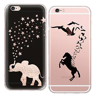 hoesje Voor iPhone 5 Apple iPhone 5 hoesje Ultradun Transparant Patroon Achterkant dier Zacht TPU voor iPhone SE/5s iPhone 5