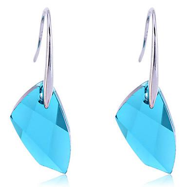 Druppel oorbellen Kristal Legering Blauw Sieraden Voor Feest Dagelijks Causaal 2 stuks