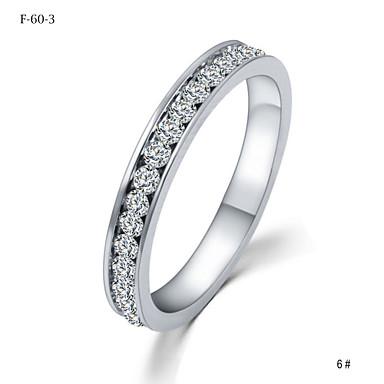 Mulheres Anéis de Casal Cristal , Clássico Pedras dos signos Fashion Estilo simples Cristal Princesa Jóias de fantasia Casamento Festa