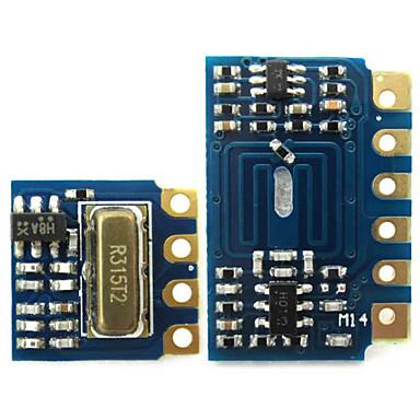 mini rf zender ontvanger module 315MHz draadloze verbinding kit voor Arduino - blauw + zwart