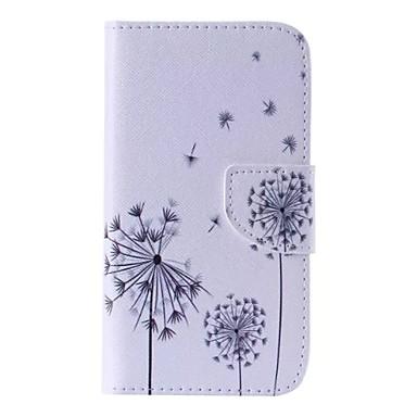 hoesje Voor Samsung Galaxy Samsung Galaxy hoesje Kaarthouder Portemonnee met standaard Flip Patroon Volledig hoesje Paardebloem PU-nahka