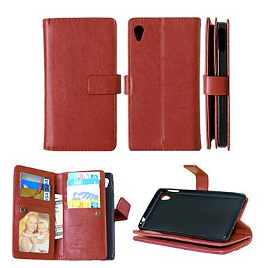 pu leer + TPU achterkant portemonnee veel kaarthouders + contant slot + fotolijst magnetische telefoon geval voor Sony Xperia m4 aqua