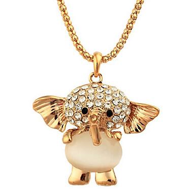 Dames Opaal Hangertjes ketting - Opaal, Gesimuleerde diamant Olifant, Dier Luxe Goud Kettingen Voor / Edelsteen