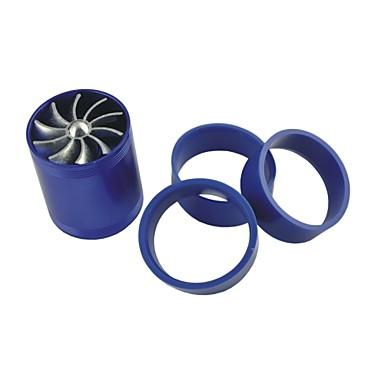 voertuigen auto dubbele turbine turbo luchtinlaat brandstof gas saver ventilator blauw