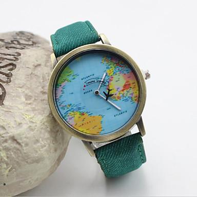 Dames Modieus horloge Kwarts Leer Band Zwart Wit Blauw Rood Groen Geel