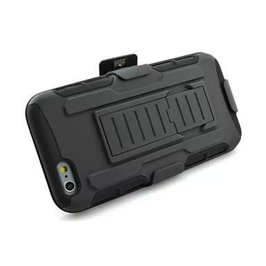 3 in 1 effect zwarte armor hybride geval met riem draaibare clip staan voor iPhone 6 plus / 6s plus