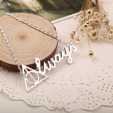 Dames Hangertjes ketting  -  Initial Jewelry Modieus Zilver Kettingen Voor Speciale gelegenheden Verjaardag Lahja