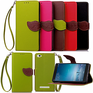 Voor Mi hoesje Portemonnee / Kaarthouder / met standaard / Flip hoesje Volledige behuizing hoesje Effen kleur Hard PU-leer Xiaomi