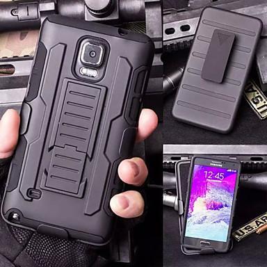 Недорогие Чехлы и кейсы для Galaxy Note 3-Кейс для Назначение SSamsung Galaxy Note 5 / Note 4 / Note 3 со стендом Кейс на заднюю панель броня ПК