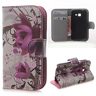 Voor Samsung Galaxy hoesje Kaarthouder / Portemonnee / met standaard / Flip / Patroon hoesje Volledige behuizing hoesje Bloem PU-leer