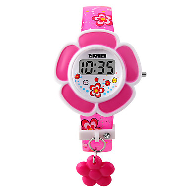 Digital Bracelet Watch PU Band Charm / Fashion Pink / Purple