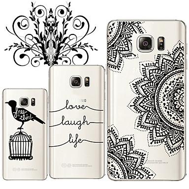 Para Samsung Galaxy Note Transparente Capinha Capa Traseira Capinha Preto & Branco TPU Samsung Note 5