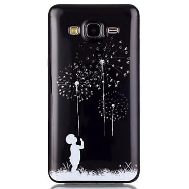 Para Samsung Galaxy Capinhas Case Tampa Estampada Capa Traseira Capinha dandelion PUT para Samsung Galaxy On 7 On 5 J3