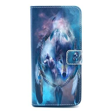 Woves patroon pu lederen staan case met kaartslot voor iPhone 6 plus / 6s plus 5,5 inch