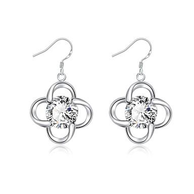 Dames Anderen Synthetische Diamant Verzilverd Druppel oorbellen - Standaard Zilver oorbellen Voor Kerstcadeaus / Bruiloft / Feest