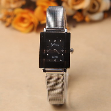 Dames Modieus horloge Kwarts imitatie Diamond Legering Band Zilver Wit Zwart