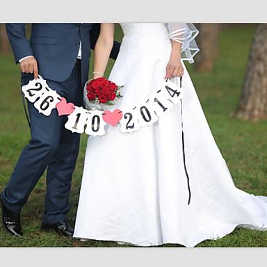 Casamento Aniversário Noivado Dia Dos Namorados Papel Pérola Decorações do casamento Tema Praia Tema Jardim Tema Asiático Tema Flores