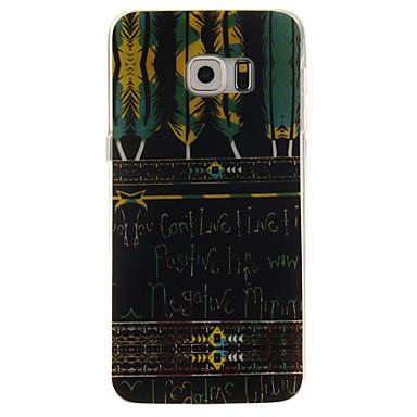 Voor Samsung Galaxy hoesje Patroon hoesje Achterkantje hoesje Woord / tekst TPU Samsung S6 edge plus / S6 edge / S6