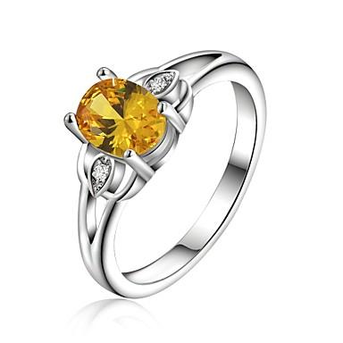 Maxi anel Cristal Prata Chapeada Moda Jóias Casamento Festa Diário Casual 1peça