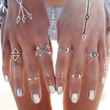 Kadın Takı Seti Yüzük Turkuaz Moda Turkuaz alaşım Mücevher Uyumluluk Parti Günlük