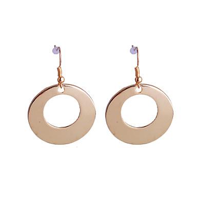 Druppel oorbellen Ring oorbellen Eenvoudige Stijl Legering Cirkelvorm Gouden Sieraden Voor Feest Dagelijks Causaal 2 stuks